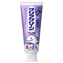 KAO Зубная паста для детей с мягкими микрогранулами со вкусом винограда - Clear clean grape, 70г