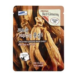 3W Clinic Маска тканевая для лица красный женьшень - Fresh red ginseng mask sheet, 23мл