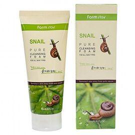 FarmStay Пенка очищающая с экстрактом улитки - Snail pure cleansing foam, 180мл