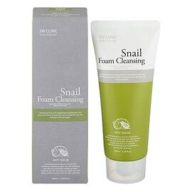 3W Clinic Пенка для лица с фильтратом улиточного муцина - Snail foam cleansing, 100мл