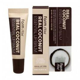 FarmStay Бальзам для губ с экстрактом кокоса - Real coconut essential lip balm, 10мл, По компонентам: Кокос