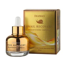 Deoproce Ампула-сыворотка на основе муцина улитки - Snail recovery brightening ampoule, 30мл