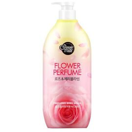 KeraSys Гель для душа «роза» - Shower mate pink flower, 900мл