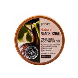 Jigott Гель увлажняющий с экстрактом муцина черной улитки - Black snail moisture soothing gel, 300мл
