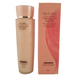 3W Clinic Эмульсия для лица увлажнение - Flower effect extra moisture emulsion, 150мл