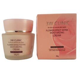 3W Clinic Крем для лица увлажнение - Flower effect extra moisture cream, 50г