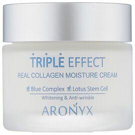 Aronyx Крем для лица с морским коллагеном - Medi flower triple effect moisture cream, 50мл