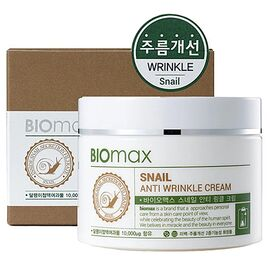 BioMax Крем против морщин с экстрактом слизи улитки - Snail anti wrinkle cream, 100мл