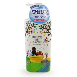 MAX Мыло для тела жидкое с ароматом персика - Uruoi no sachi body soap, 450мл