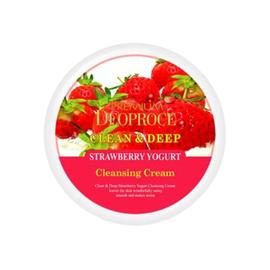 Deoproce Крем для лица клубничный - Premium clean deep strawberry yogurt cleansing cream, 300мл