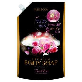Mitsuei Крем-мыло с аргановым маслом, гиалуроновой кислотой и коллагеном с ароматом роз з/б, 840мл