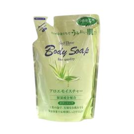 Mitsuei Крем-мыло с экстрактом алоэ з/б - Soft three body soap aloe, 400мл
