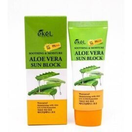 Ekel Крем для лица и тела солнцезащитный с экстрактом алоэ - Aloe vera sun block SPF 50/PA+++, 70мл