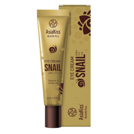 AsiaKiss Крем для кожи вокруг глаз с экстрактом слизи улитки - Snail eye cream, 40мл
