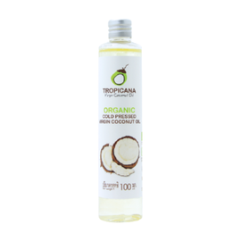 Tropicana Масло кокосовое пищевое - Organic cold pressed virgin coconut oil, 100мл
