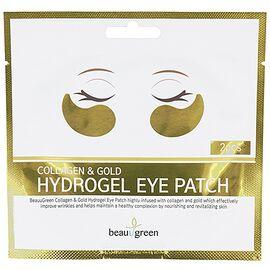 BeauuGreen Патчи для глаз с коллагеном и золотом - Collagen gold hydrogel eye patch, 4г