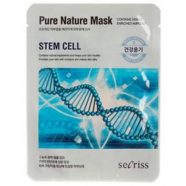 Маска для лица тканевая Anskin Secriss Pure Nature Mask Pack - Stem cell, 25мл