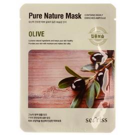 Маска для лица тканевая Anskin Secriss Pure Nature Mask Pack - Olive, 25мл