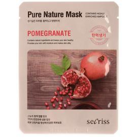 Маска для лица тканевая Anskin Secriss Pure Nature Mask Pack - Pomeganate, 25мл, По компонентам: Гранат