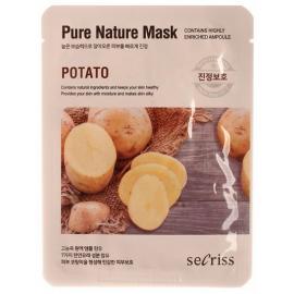 Маска для лица тканевая Anskin Secriss Pure Nature Mask Pack - Potato, 25мл, По компонентам: Картофель