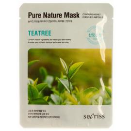 Маска для лица тканевая Anskin Secriss Pure Nature Mask Pack - Teatree, 25мл, По компонентам: Чайное дерево