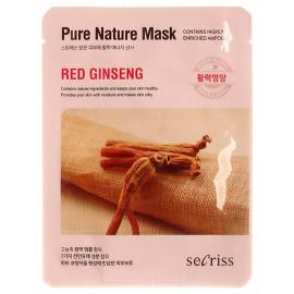Маска для лица тканевая Anskin Secriss Pure Nature Mask Pack - Red ginseng, 25мл