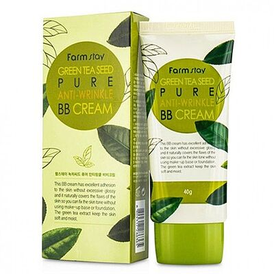 FarmStay ББ-крем с семенами зеленого чая - Green tea seed pure anti wrinkle, 40г
