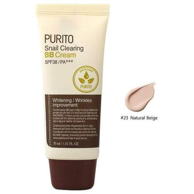 Purito ББ-крем с муцином улитки тон №23 - Purito snail clearing bb cream SPF38 PA+++, 30мл