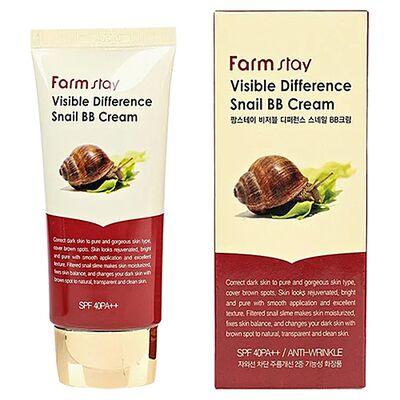 FarmStay ББ-крем восстанавливающий - Visible difference snail BB cream, 50г