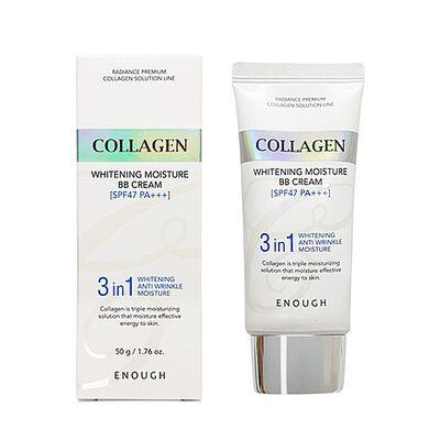 Enough ББ-крем с морским коллагеном - Сollagen 3 in1 whitening moisture BB сream SPF47 PA+++, 50г