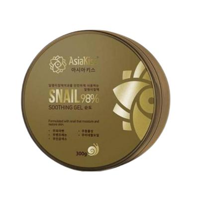 AsiaKiss Гель для лица и тела увлажняющий с муцином улитки - Soothing gel snail, 300мл