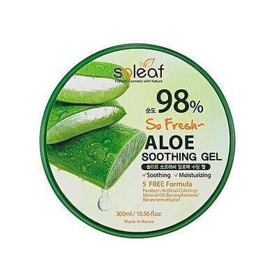 Soleaf Гель с алоэ успокаивающий - So fresh aloe soothing gel, 300мл