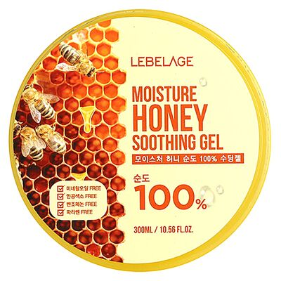 Lebelage Гель увлажняющий успокаивающий с экстрактом мёда - Moisture honey 100% soothing gel, 300мл