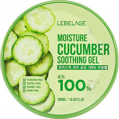 Lebelage Гель для тела успокаивающий с экстрактом огурца - Moisture cucumber soothing gel, 300мл