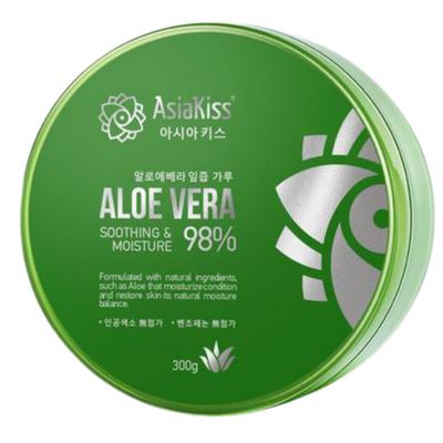 AsiaKiss Гель для лица и тела увлажняющий и успокаивающий с алоэ - Soothing gel aloe vera, 300мл