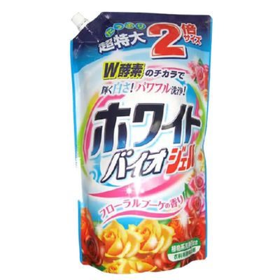 Nihon Detergent Средство для стирки жидкое с цветочным ароматом з/б - White bio gel, 1,62кг