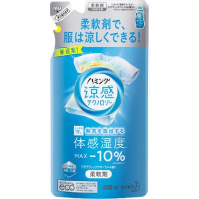 KAO Кондиционер-смягчитель для белья с эффектом охлаждения з/б - Humming cool aqua floral, 400мл