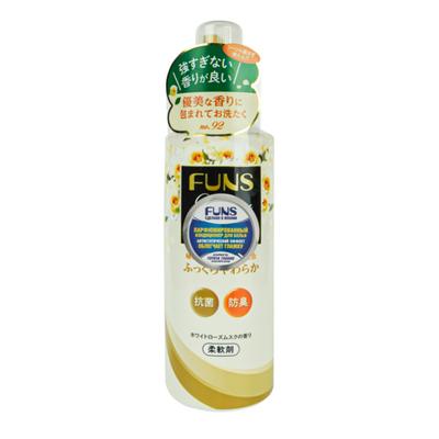 Funs Кондиционер для белья с антибактериальным эффектом и ароматом белой розы и жасмина, 600мл