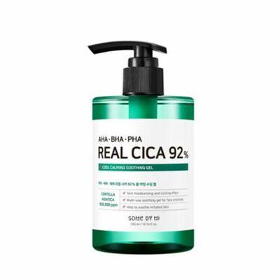 Some By Mi Гель для лица и тела от акне с кислотами и центеллой - Real cica 92% cool calming, 300мл