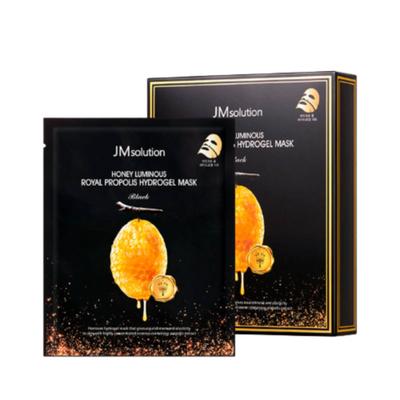 JMsolution Маска гидрогелевая с прополисом - Honey luminous royal propolis hydrogel mask black, 30мл