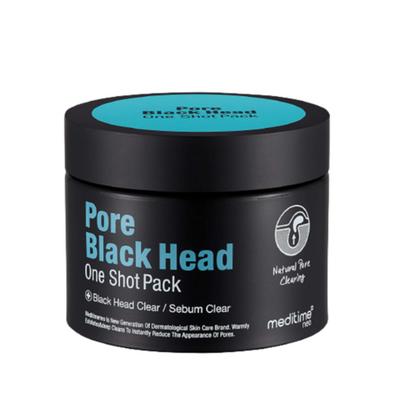 Meditime Маска разогревающая для глубокого очищения пор - Pore black head one shot pack, 100г