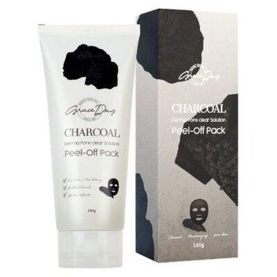 Grace Day Маска-пленка очищающая с углем - Charcoal derma pore clear solution peel-off pack, 180г