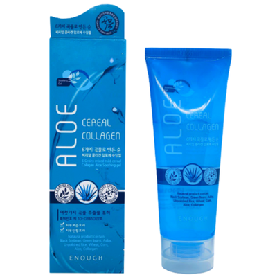 Enough Гель для лица и тела с алоэ и коллагеном - 6 Mixed cereal collagen aloe soothing gel, 100мл