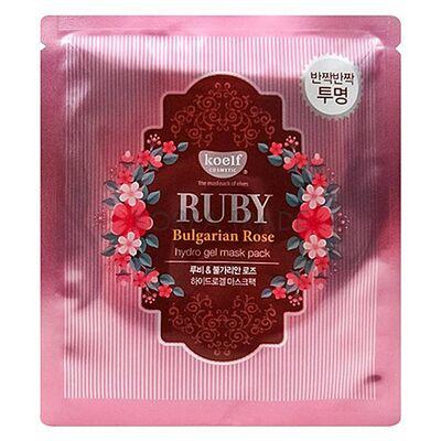 Koelf Маска гидрогелевая с экстрактом болгарской розы - Ruby & bulgarian rose, 30г