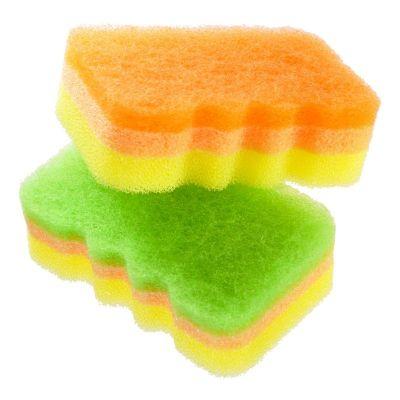 Kikulon Губка для посуды трехслойная мягкий верхний слой - Awadasu sponge scouter non scratch, 2шт, изображение 2