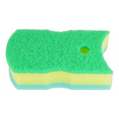 Kikulon Губка для ванной и кухни трехслойная - Soft sponge scouter non scratch 15х8см, 1шт, Размер: 15х8см, изображение 2