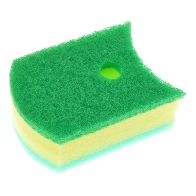 Kikulon Губка для ванной и кухни трехслойная - Soft sponge scouter non scratch 11x8см, 1шт, Размер: 11x8см, изображение 2