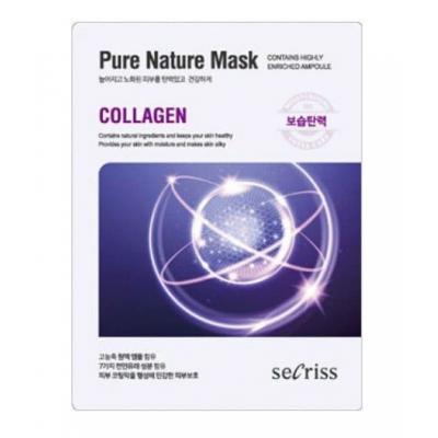 Маска для лица тканевая Anskin Secriss Pure Nature Mask - Collagen, 25мл, По компонентам: Коллаген