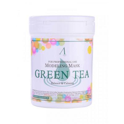 Альгинатная маска с зелёным чаем Anskin Modeling Mask Green Tea For Balance & Calming, 240гр + банка для хранения, Объем: 240гр (банка)
