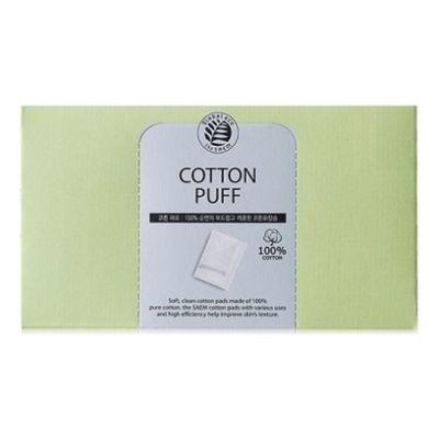 The Saem Спонжи косметические из 100% хлопка Cotton Puff 80шт
